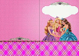 Barbie Escuela De Princesas Invitaciones Y Etiquetas Para Candy