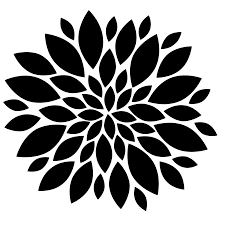 flowers black and white clip art