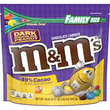 m m s peanut dark chocolate candy