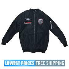 Rijing Fashion Men S Nwt American Motors Decal Bomber Jacket Black Free Shipping
