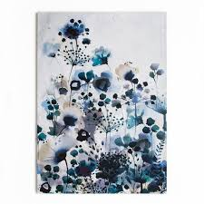 Moody Blue Watercolour Printed Canvas Wall Art