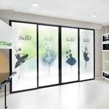Ballet Dance Studio Custom Size Window Glass Film Door Stickers No Glue Privacy Decals Bathroom Office Sliding Door New Year Decorative Films Aliexpress