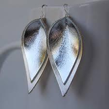 genuine leather sterling silver leaf