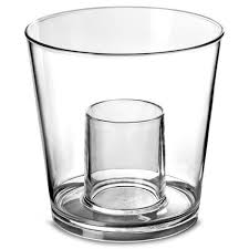 1 plastic quaffer shot glass glasses