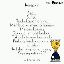 kesepian sepi sunyi quotes writings by leena lia