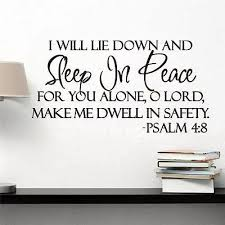 Sleep In Peace Bible Verse Decor Vinyl Wall Decal Quote Sticker Inspiration Lettering Sayings Words Wall Stickers Home Decor Words Wall Stickers Wall Decals Quoteswall Sticker Aliexpress