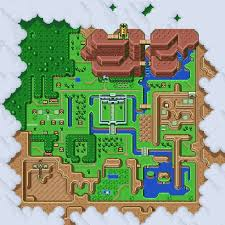 hyrule light world map cross stitch