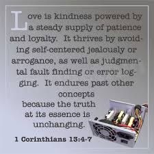 Paraphased 1 Corinthians 13:4-7 Bible Verse About Love