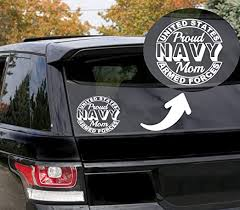 Amazon Com Proud Navy Mom 5 5 W Decal Sticker For Cars Trucks Vans Walls Laptop Compatible With All Macbook Pro Clear Decal Sticker Kitchen Dining