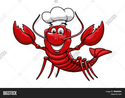 Cartoon Red Lobster Vector & Photo ...