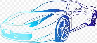 Sports Car Ferrari 458 Wall Decal Png 2351x1051px Sports Car Auto Racing Automotive Design Blue Brand