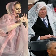 Adele or George Bush: Who Wore a Rain Poncho Better? - E! Online - UK