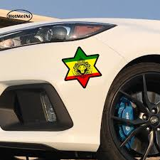 Hotmeini Car Styling Sticker Car Decal Rasta Reggae Jah Macbook Lion Of Judah One Love Rastafarai Waterproof 13x13 Cm Car Stickers Aliexpress