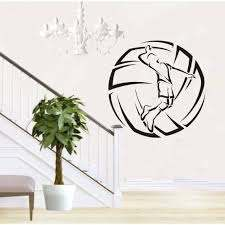 Vinyl Wall Decal Volleyball Player Ball Sport Stickers Mural Sticker Mural Vinyl Wall Decalswall Decals Aliexpress