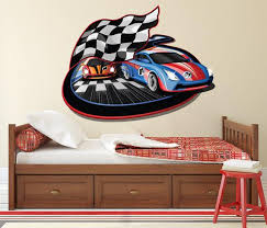 Racing Cars Wall Decal Kids Wall Decal Racing Wall Art Racing Etsy