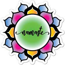 Amazon Com Namaste Flower Lotus Hippie Buddhism Colourful Henna Car Sticker Decal Automotive