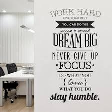 Work Hard Dream Big Never Give Up Classroom Motivation Wall Decal Teacherfanatics Com