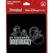 Your Wdw Store Disney Window Decal My Other Car Is A Doombuggy Haunted Mansion Disney Car Decals Disney Swag