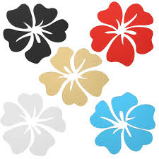 5pcs Hibiscus Flower Acrylic Mirror Wall Stickers Diy Home Art Decor Buy At A Low Prices On Joom E Commerce Platform