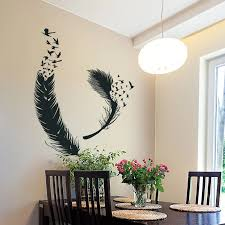 Feather Wall Decor Feathers Vinyl Wall Decal Forest Wall Decal Tribal Boho Bohemian Bedroom Decor Feather Wall Art 2sh19 Wall Stickers Aliexpress