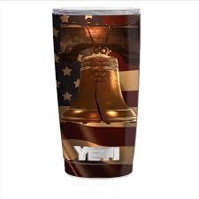 Skin Decal For Yeti 20 Oz Rambler Tumbler Cup Liberty Bell America Strong Itsaskin Com