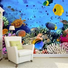 Shop Photo Wallpaper 3d Stereo Underwater World Tropical Fish Wall Mural Living Room Sofa Backdrop Wall Painting Papel De Parede Sala Online From Best Wall Stickers Murals On Jd Com Global Site
