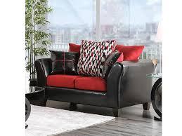 braelyn black red sofa set for