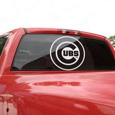 Chicago Cubs 18 X 18 White Logo Decal Chicago Cubs Fan Stuff