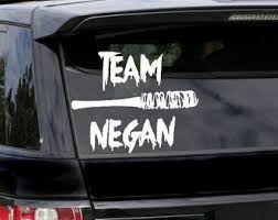 Negan Car Decal Etsy