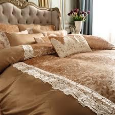luxury brown gold fleece warm bedding