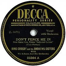 78 Rpm Bing Crosby And The Andrews Sisters Don T Fence Me In The Three Caballeros Decca Usa 23364