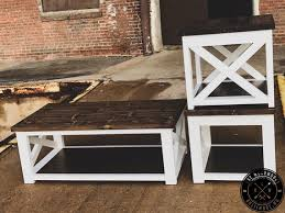 farmhouse style living room end tables