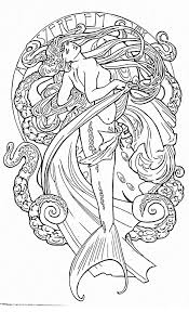 Love This Art Nouveau Mermaid Half Sleeve With Reds And