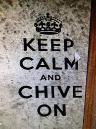 The Chive Authentic Keep Calm And Chive On Black Decal Sticker Kcco Ebay