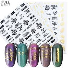 1 Sheet Letter Words Nail Sticker Tribal Sign Text 3d Nail Sticker Leopard Adhesive Stickers Nail Buy At A Low Prices On Joom E Commerce Platform