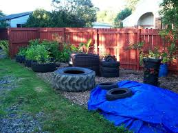 Fish Pond From Tractor Or Car Tires Fish Pond Tire Pond Recycled Tyres Garden