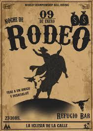 Flyer Invitacion Para Una Noche De Rodeo Rodeo Rodeo Marron