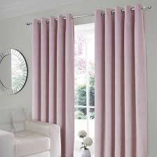 velour pink thermal eyelet curtains