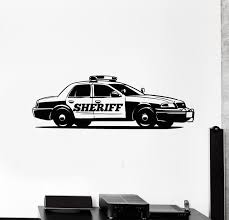Vinyl Wall Decal Police Car Cop Sheriff Garage Boys Room Stickers Mura Wallstickers4you