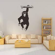 Mrinb Jungle Monkey Gorilla Wall Stickers For Kids Rooms Gorilla Animal Home Decal For King Kong Boys Room Art Mural Wall Stickers Diy 34 56cm Buy Online In Colombia
