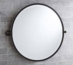 rectangular pivot bathroom mirror