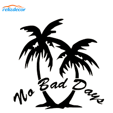 No Bad Days Word Car Decal Beach Car Stickers Hawaiian Auto Decal Palm Tree Quotes Removable Vinyl L661 Car Stickers Aliexpress