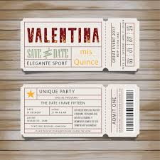 Invitaciones Tarjetas Ticket Quince Cumpleanos Bodas Oferta 75