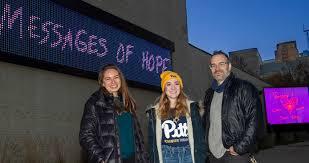 Student-designed Holiday Art Installation Illuminates Messages of Hope |  Pittwire | University of Pittsburgh