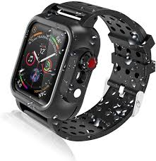 Amazon.com: Realproof Waterproof Apple Watch Case 44MM Series 5 / 44MM  Series 4 with 3PCS Premium Soft Silicone Band, Dropproof Shockproof Impact  Resistant Rugged Protective iWatch Case Bulit-in Screen Protector: Clothing