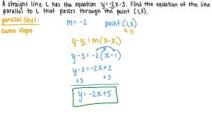 finding the equation of a line parallel