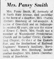 Pansy Mae Crider (Smith) obituary - Newspapers.com