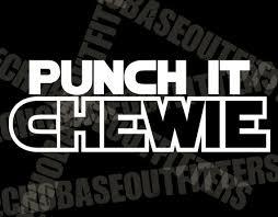 Punch It Chewie Vinyl Cut Star Wars Decal Sticker Han Solo Etsy