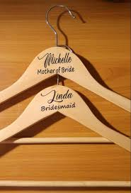 Custom Decals For Wood Hanger Name And Role Wedding Hanger Etsy