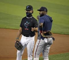 Monte Harrison homers, but offense flat otherwise as Marlins fall to Braves  - New Wave Communications